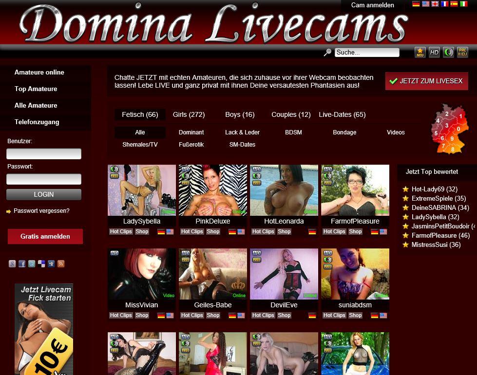 domina livecams